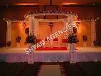 Round Wooden Wedding Mandap