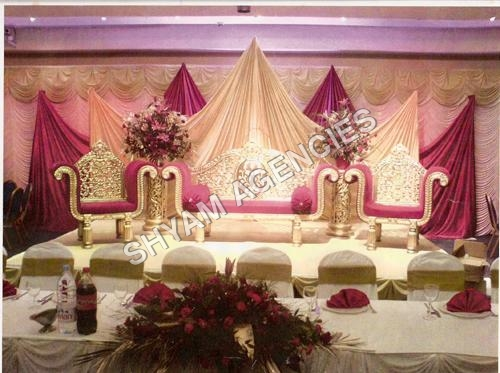 Rajwadi Wedding Mehndi Stage