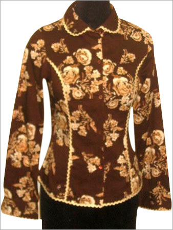 Full Sleeves Blouse in Printed Cotton