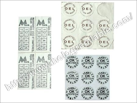 Frangible Vinyl Labels (Tamper Proof)
