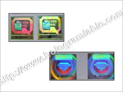 Hologram Serial Number Stickers