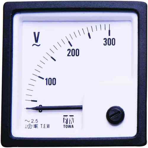 SD 72 Analog Panel Voltmeter