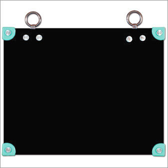 Frame Less Black Board with Hanging Rings