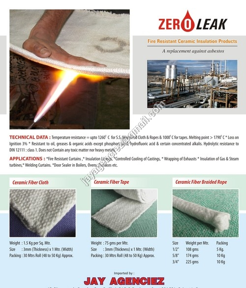 Fire Resistant Ceramic Fibre Cloth