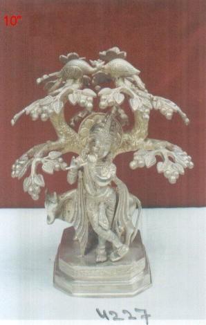 Antique Brass Lord Krishna Idol