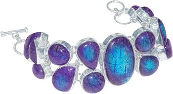 Purple Moon Stone Bracelet