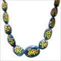 Blue Sapphire Painted Tumbled Beads