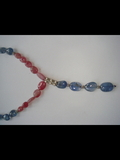 Ruby and blue sapphire tumble Beads