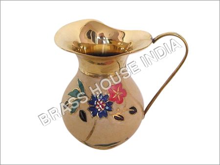 Painted Brass Decanter