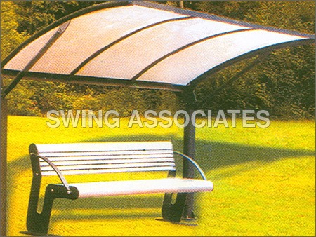 Garden Bench With Shelter