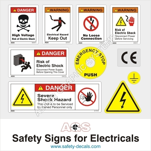 Safety Signs for Electrical