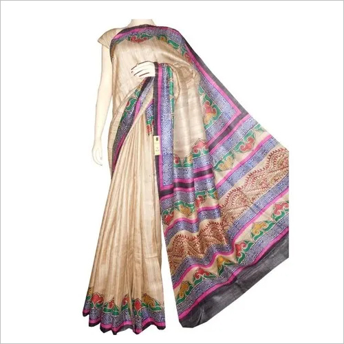 Ghicha Printed Silk Saree