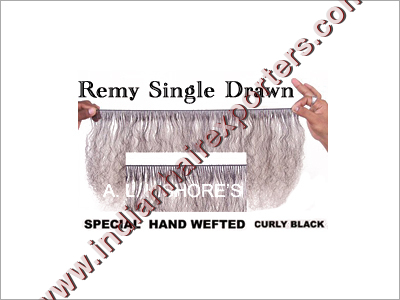 Remy Single Drawn Hand Weft Hair