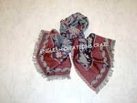 Wool Cotton Jacquard Multi Colored Scarves