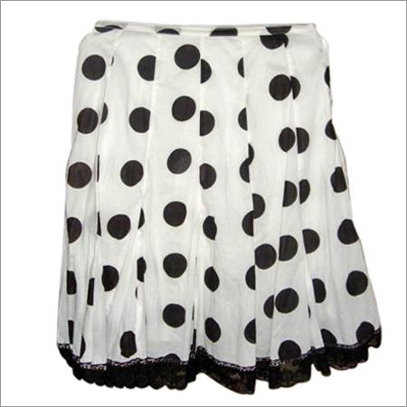 Polka Dots Frill Skirt