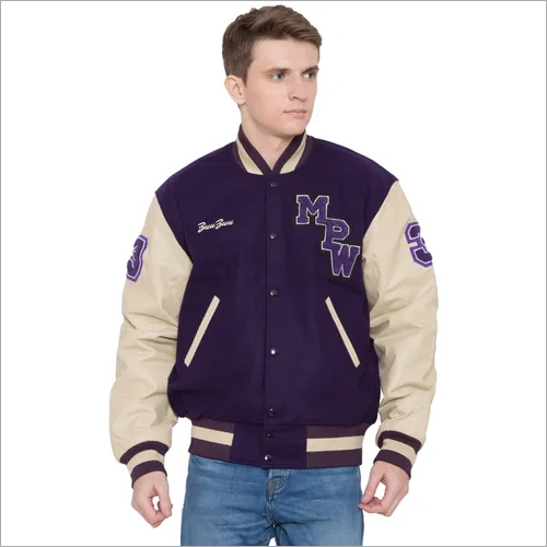 Wool Leather Letterman Jacket
