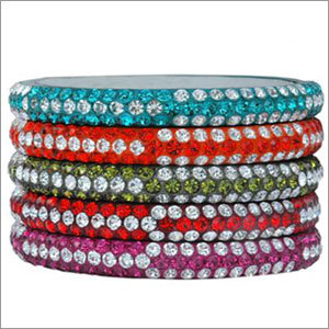 Stone Studded Lac Bangles
