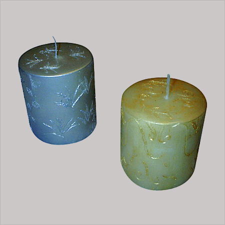 Gold Embossed Candles