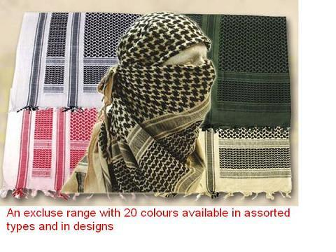 Shemaghs Arafats and Muslim scarfs