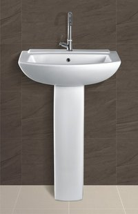 Plain pedestal Wash Basin