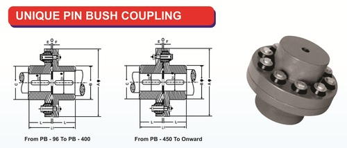 Unique Pin Bush Coupling