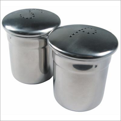 Stainless Steel Salt & Pepper Shaker