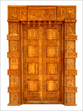 Teakwood Entrance Door