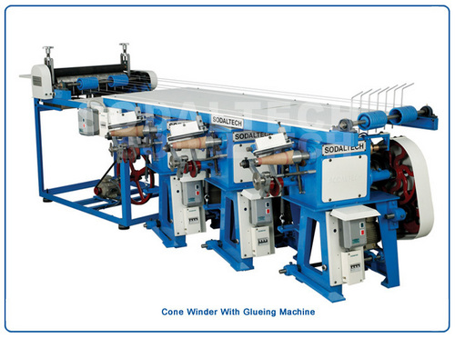 Cone Winder With Glueing Machinery