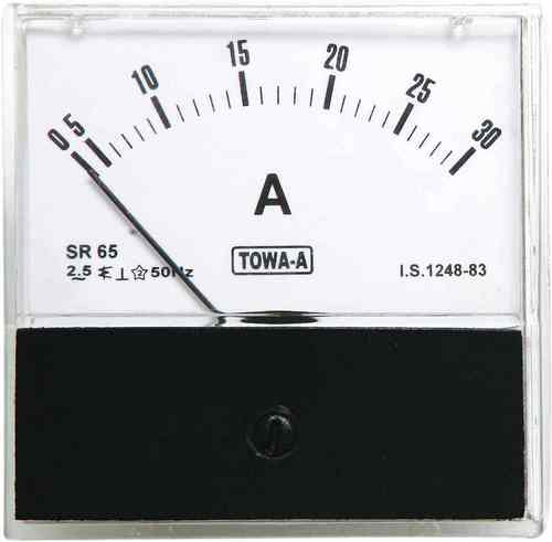 Moving Iron SR 80 A.C. Acrylic Ammeter