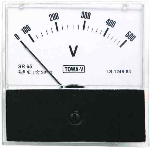 Moving Iron Type SR 52 A.C. Acrylic Voltmeter