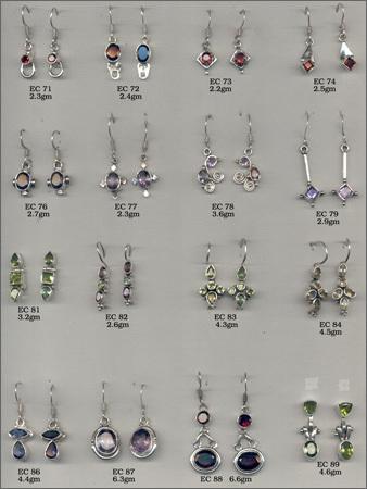 Silver Bazel Earring