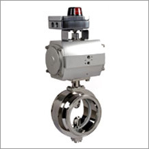 PTFE Seated TC End Butterfly Valve with Actuator