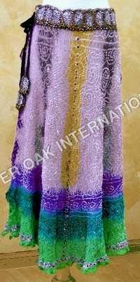 Bandhej Silk Skirts