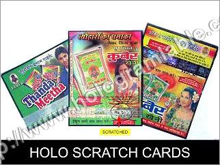Holo Scratch Cards