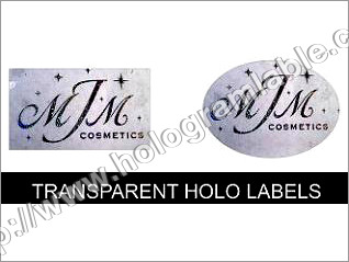 Transparent Holo Labels