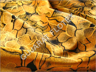 Flock Discharge Print Fabric