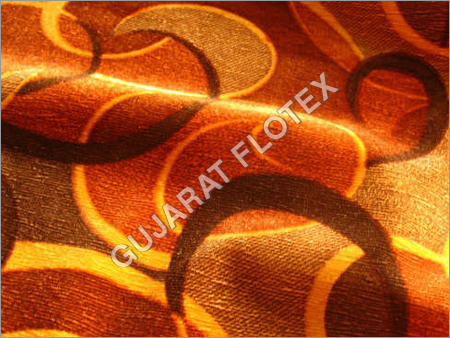 Wet Print Flock Fabric