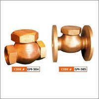 Bronze Horizontal Lift Check Valve (Union Cap)