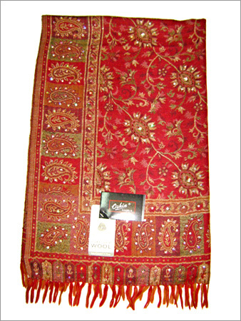 Jamawar Shawl with Sequence Work