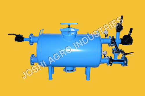 Horizontal Sand Filter With Back-Flush Assembly