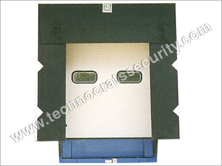 Sectional Door With Dock Leveler and Dock Shelter