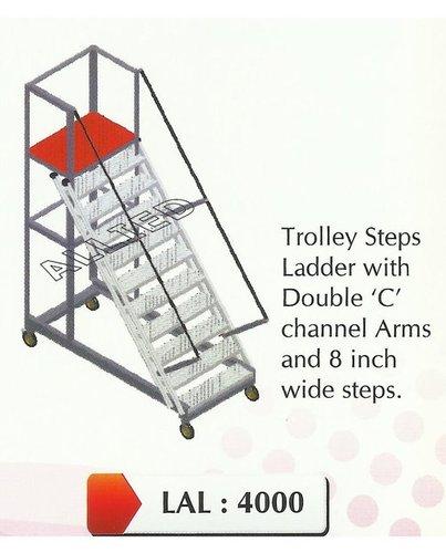 Aluminum Trolley Step Ladder