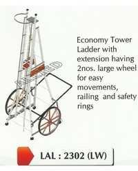 Self Support Extension Ladder With Large Wheels