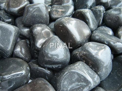 Black Colour Pebbles