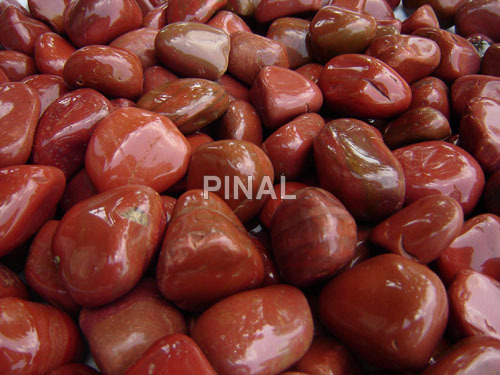 Red Colour Pebbles