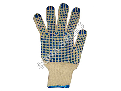 PVC Dotted Knitted Seamless Gloves