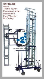 Asian Tiltable Tower Extension Ladder Mounted