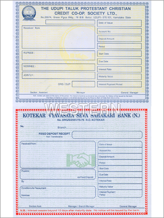 Bank Deposit Receipt