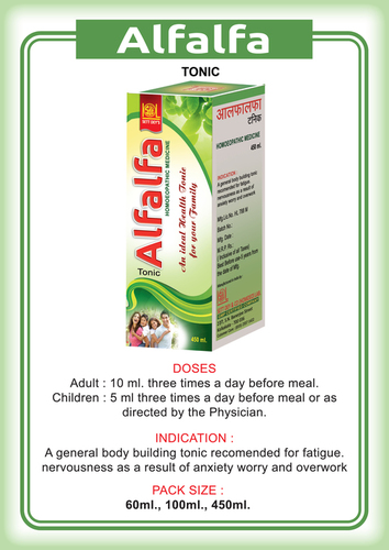 Alfalfa Health Tonic