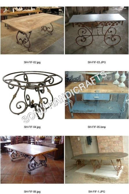 French Metal Table Bases